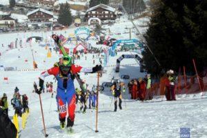 Skimountaneering Sprint race